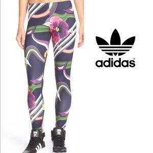 Adidas Floral Burst Print legging Sz Petite Small